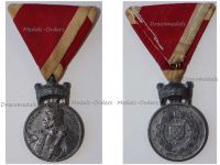 Croatia WW2 Order Crown King Zvonimir Iron Merit Medal