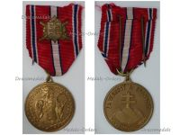 Czechoslovakia WW2 Loyal Defense Medal for the Slovakian Volunteers on the 20th Anniversary of Independence 1918 1938