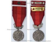 Czechoslovakia Silver Medal Merit Defense Homeland Military Decoration 1960 Czech Award Marked 900 by Zukov with Ribbon Bar
