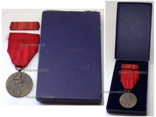 Czechoslovakia Homeland Service Military Medal 1955 Czech Decoration Award with Ribbon Bar Boxed