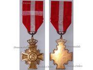 Denmark WW1 Loyal Service Good Conduct Cross 16 years Military Medal Christian X 1912 1947 Danish Decoration