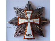 Denmark Order Dannebrog Grand Cross Star Military Medal 1890 Danish Decoration Marked L