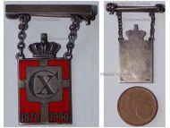 Denmark WW2 King Christian X 70th Birthday Anniversary 1870 1940 Badge for Ladies Silver 950 by Jensen