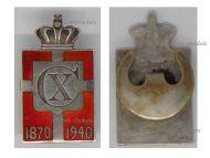 Denmark WW2 King Christian X 70th Birthday Anniversary 1870 1940 Badge for Men Silver 950 by Jensen