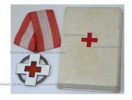 Denmark WWII Danish Red Cross Commemorative Medal Wartime Relief Work King Christian X Boxed Maker Michelsen WW2 1939 1945