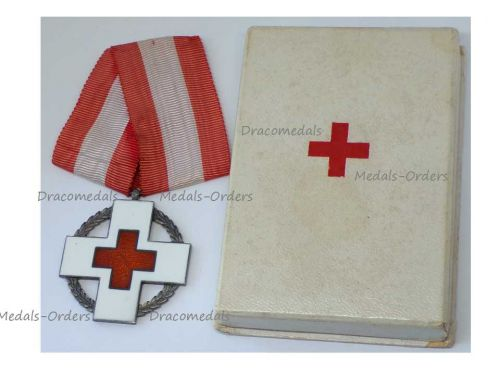 Denmark WWII Danish Red Cross Commemorative Medal Wartime Relief Work King Christian X Boxed Maker Michelsen WW2 1939 1945