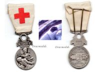 France Red Cross Medal 1864 1866 French Association Aid Wounded SB Silver Numbered
