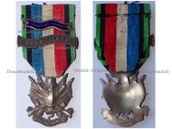 France Franco Prussian War 1870 1871 Veterans Medal Oublier Jamais with Bars 1870-1871 & Deputy Treasurer