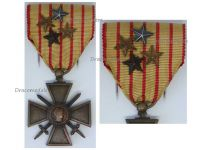 France WW1 Medal War Cross Croix de Guerre 4 stars 1914 1916 Decoration French Great War WWI 1918