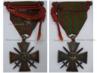 France WW1 War Cross 1914 1916 with 3 Citations 3 Stars (2 Bronze 1 Silver) Fourragere & Officer's Bar