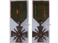 France WW1 War Cross 1914 1916 with 3 Citations Palms 2 Stars (1 Bronze 1 Silver)