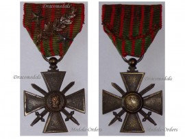 France WW1 Medal War Cross Croix Guerre 1914 1915 palms silver bronze stars Decoration French WWI 1918 Great War