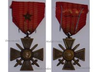 France WWII War Cross Croix de Guerre LONDON type star 1939 1940 Military Medal WW2 French Decoration Merit Award