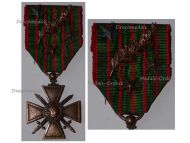 France WW1 Medal War Cross Croix Guerre 1914 1916 palms 3 stars Decoration French WWI 1918 Great War