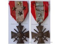 France War Cross TOE for Overseas Operations with 4 Citations 4 Stars (1 Bronze 2 Silver 1 Gold)