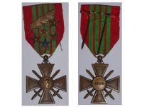 France WW2 War Cross Croix de Guerre 1939 palms 5 stars Military Medal WWII 1945 French Decoration Award