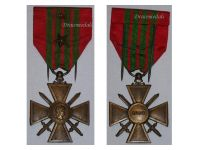 France WW2 War Cross Croix de Guerre 1939 stars Military Medal WWII 1945 French Decoration Merit Award