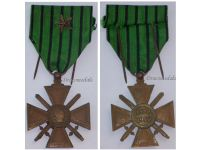France WW2 War Cross Croix de Guerre 1939 1940 Vichy star Military Medal WWII 1945 French Decoration
