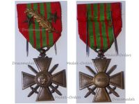 France WW2 War Cross 1939 with 3 Citations (Palms and 2 Bronze Stars)