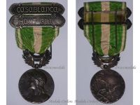 France Morocco Military Medal 1908 clasp Haut Guir Casablanca French Colonial Campaign Decoration