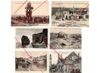 France WW1 6 photo Graves Military Cemetery de Choloy French postcards 1914 1918 Great War WWI