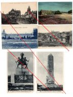 France WW1 6 Field Post Postcards Chemin de Dames Reims Soissons French Photo 1914 1918 Great War WWI