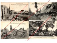 France WW1 4 Field Post Postcards Destroyed Marne Champagne Meuse French Photo 1914 1918 Great War WWI