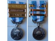France Overseas Military Medal bars Chad Zaire Central Africa Colonial Wars French Decoration Award 5th Republic
