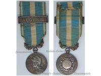 France WW1 Colonial Medal 1st Type 1893 1913 Bifacial with Snap Model Clasp Algeria by Mercier & Lemaire