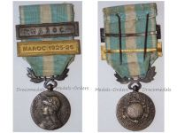 France WW1 Colonial Medal with Clasps Maroc & Maroc 1925-26  Intermediate Type Unofficial