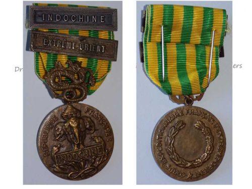 France Indochina War Military Medal 1945 1953 Dien Bien Phu Battle 2 bars Far East Decoration French Foreign Legion