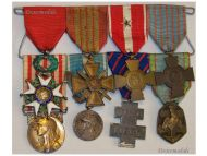 France WW2 Knight Legion Honor War Cross Valor Libre Colonial Military Medals set French Decorations 1914 1940