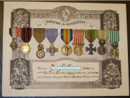 France WW1 Victory Orient Dardanelles Resistance Military Medals set French Decorations 1914 1918 WWII