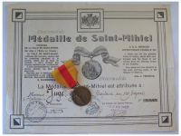 France WW1 Saint ST Mihiel Battle Medal War Military 1914 1918 Diploma Captain WWI Great War French Award