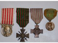 France WW1 Great War Cross Combatants Volunteers Military Medals set WWI 1914 1918 French Decoration
