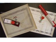 France WWII Set Order Legion Honor Officer Knight Coss Set Infantry Battalion CO WW2 Medals Diploma