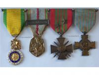 France WW2 Valor Discipline War Cross Combatants French Military Medals set Decorations WWII 1940 1945