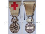 France Red Cross Medal of the French Association for Aiding the Wounded Military SB 1864 1866 Silver Type
