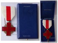 France Red Cross Medal Recompense Gold Class 2nd Type 1st Form 1950 by the Paris Mint Boxed