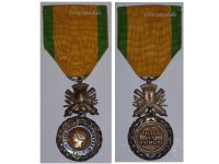 France Valor Discipline 1870 Military Medal Merit French Decoration Bifacial 4th type 3rd Republic 1873 1878