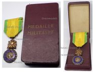 France WW1 Military Medal Valor Discipline 1870 7th type 1910 1951 by Paris Mint Boxed