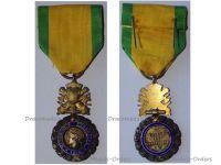 France WWI Valor Discipline 1870 Military Medal Merit French Decoration 7th type WW1 1914 1918 Paris Mint