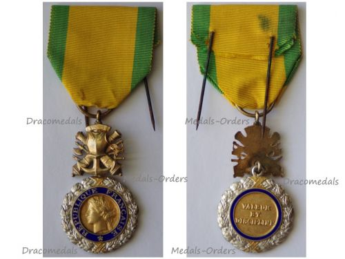 France WW2 Military Medal Valor Discipline 8th type 4th Republic 1951 1961