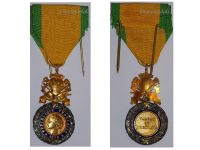 France WW2 Military Medal Valor Discipline 1870 6th type 3rd Republic 1944 1951 Marked Bronze