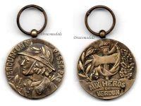 France WW1 Verdun Medal 1916 Marie Stuart Type by Rene COPY