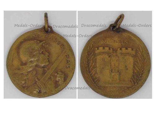 France WW1 Verdun Vernier Military Medal 1916 WWI 1914 1918 French Decoration Great War Award