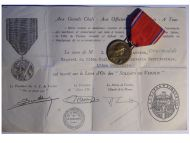 France WW1 Verdun medal 1916 on ne passe pas WWI 1914 1918 Vernier Decoration Diploma Great War