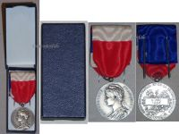 France Trade Labor Silver Medal Civil 1966 Decoration French Award 20 years service 5th Republic boxed