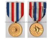 France WW2 Railroad Gold Merit Medal for 35 Years Service 2nd Type Named 1945 by Paris Mint