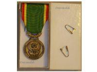 France Society Encouragement Devotion Service Medal Bronze Civil French Decoration Award 2007 boxed